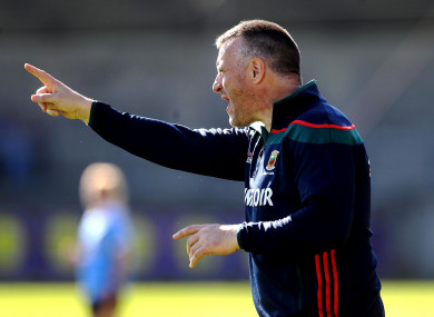Mayo manager Peter Leahy.