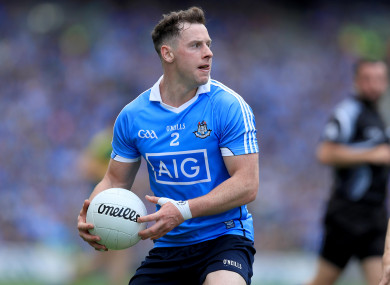 Philly McMahon returns to corner back for Dublin.