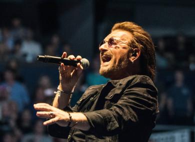 U2 in concert at Bridgestone Arena in Nashville, Tennessee, USA. 26 May 2018