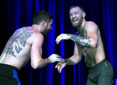 McGregor has a spark back lately, according to his coach.