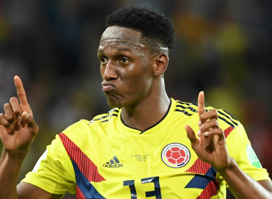 5345a8ed450  I was paying for Messi s shopping!   Colombia star Mina admits to foolish  free-kick bets with Barca stars