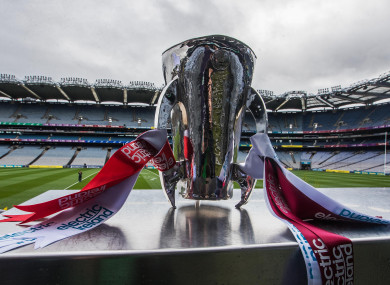 A view of the All-Ireland minor hurling trophy (file pic).