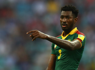 Andre-Frank Zambo Anguissa playing for Cameroon