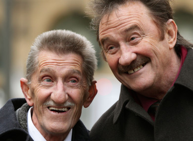 Barry (left) and Paul Elliott of comedy due Chuckle Brothers