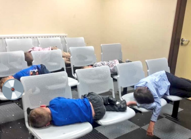 A photo of the children who spent the night in Tallaght Garda Station, which the mother asked to be shared online