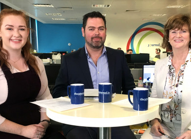 (L-R) Aisling Fagan of DCUSU, Daragh Brophy of TheJournal.ie and career guidance specialist Andree Harpur.