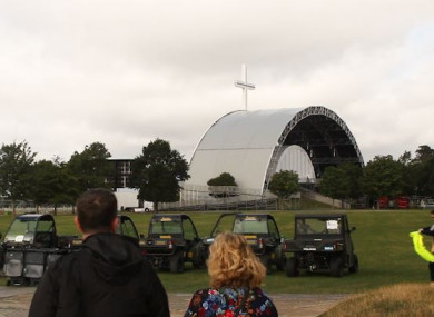 The stage where the Pope will take Mass in the Phoenix Park.
