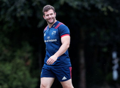 Jaco Taute at Munster training in UL.
