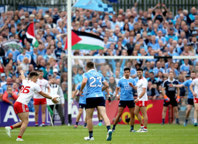 We meet again: Dublin were three-point winners away to Tyrone in the Super 8s.