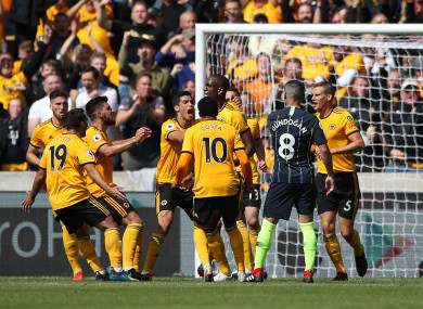 Willy Boly gave Wolves the lead.