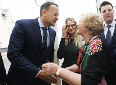 Taoiseach Leo Varadkar with the former Tánaiste Frances Fitzgerald at this year's party think-in.