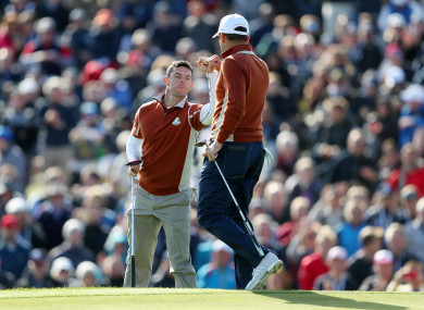 McIlroy and Garcia in action on Saturday.