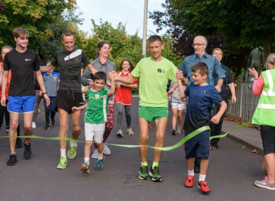 Irish runner Alex O'Shea on his way to completing his 32-marathon challenge.