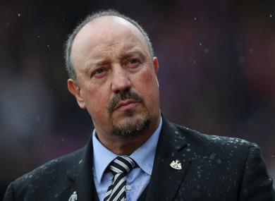Newcastle United manager Rafael Benitez.