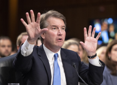 Judge Brett Kavanaugh testifies before the United States Senate Judiciary Committee