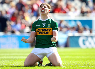 Kerry defender Colm Moriarty was named at wing-back