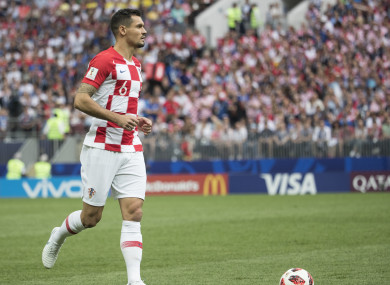 Lovren in action for Croatia at the 2018 World Cup.