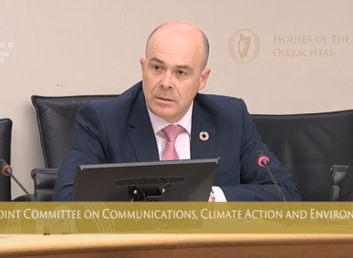 Minister Naughten told the committee today that he did not
