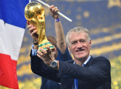Deschamps guided France to World Cup glory in Russia.