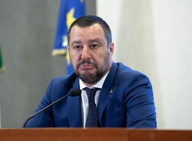 Italian Interior Minister and Deputy-Premier Matteo Salvini.