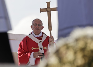 Pope Francis celebrates Mass in Palermo.