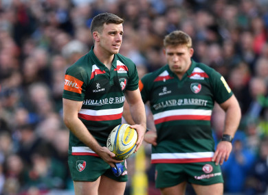 George Ford in action for the Leicester Tigers.