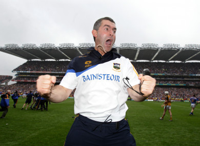Liam Sheedy celebrates after Tipperary's 2010 All-Ireland senior hurling title win.