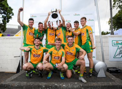 Corofin celebrate their triumph.