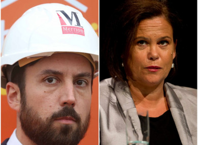 Eoghan Murphy and Mary Lou McDonald