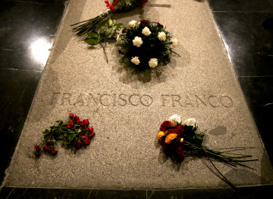 The tomb of former Spanish dictator Francisco Franco