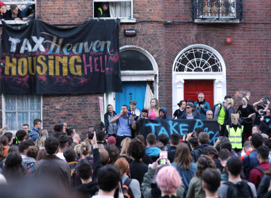 Take Back the City protests in Dublin earlier this month.