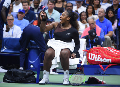 Serena Williams lost the US Open final to Naomi Osaka.