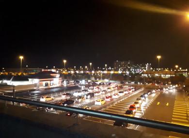 Cars queuing for Krispy Kreme in Blanchardstown.