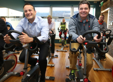 File Photo: An Taoiseach Leo Varadkar and Finance Minister Paschal Donohoe pictured at the launch of the National Physical Activity Plan.