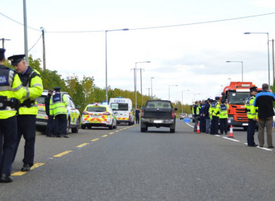 A previous checkpoint in Carlow.