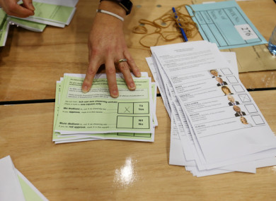 Blasphemy ballot papers being separated from Presidential votes earlier today.