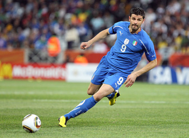 Vincenzo Iaquinta in action during the 2010 World Cup.