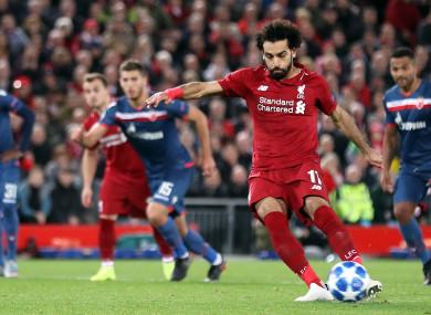 Mo Salah converts a penalty.