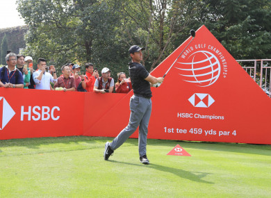 Rory McIlroy practices ahead of the WGC-HSBC Champions.