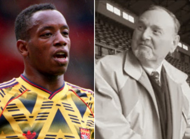Ian Wright and his former school teacher and RAF pilot Sydney Pigden.