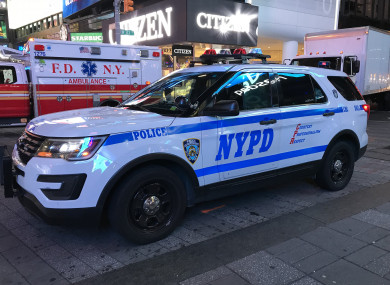 A New York Police Department vehicle on patrol in Midtown Manhattan
