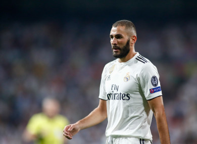 Real Madrid striker Benzema.