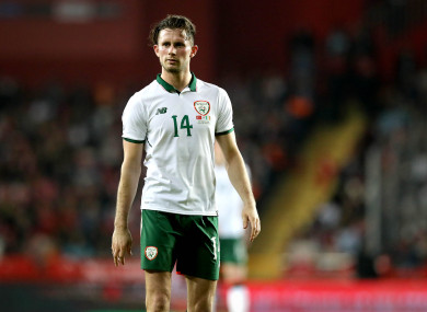 Alan Browne in action for the Republic of Ireland during an international friendly earlier this year.