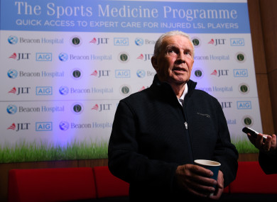 John Giles was speaking at the Beacon Hospital's launch of a new sports medicine programme in partnership with Leinster Senior Football League.