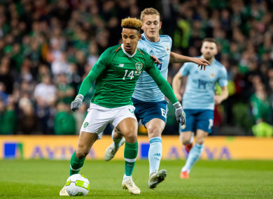 Callum Robinson played just over an hour in Ireland's 0-0 draw with the North.