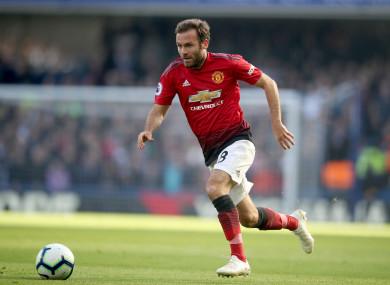 Manchester United's Juan Mata.