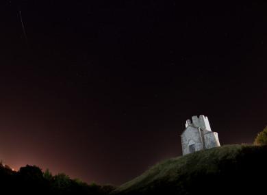 A meteor streaks across the sky in Croatia.