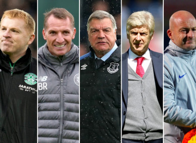 Lennon, Rodgers, Allardyce, Wenger and Carsley.