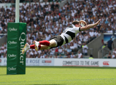 Ashton played for the Barbarians against England in May.