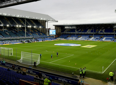 A general view of Goodison Park.
